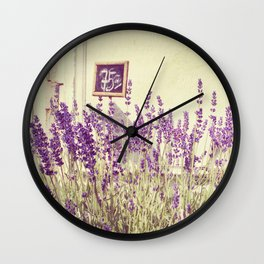Lavender // Flower Market Wall Clock