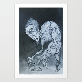 Nosferatu in fraganti Art Print