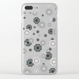 Cherry Blossom Rain Clear iPhone Case