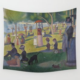 A Sunday Afternoon on the Island of La Grande Jatte (High Resolution) Wall Tapestry