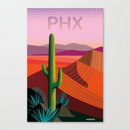 Phoenix Arizona Travel Poster Canvas Print