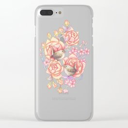 Birds'n'roses Clear iPhone Case