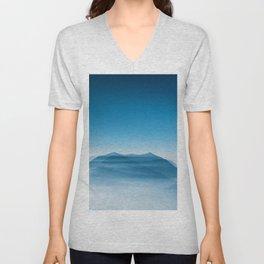 Blue Mountains (Color) Unisex V-Neck