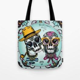sugar skull familly Tote Bag