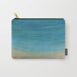 Seas The Day beach painting Carry-All Pouch