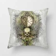 Wings Of Time Throw Pillow