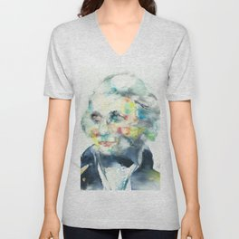 HORATIO NELSON - watercolor portrait Unisex V-Neck