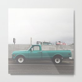Lovely Turquoise Beater Truck Metal Print