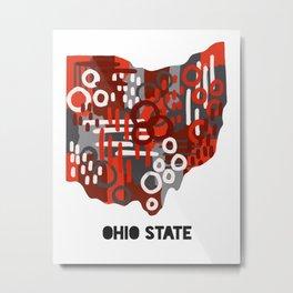 Ohio Buckeyes Metal Print