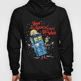 How The Grinch Stole Dr Who (on Dark) Hoody