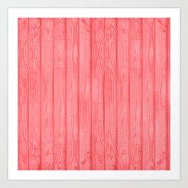 Bright Coral wood Art Print