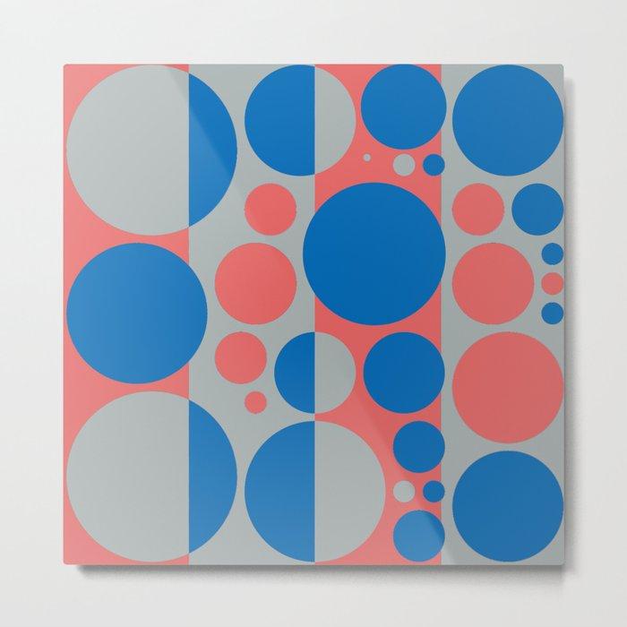 Summer spring fashion colors circles design 3.0 Metal Print