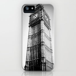 Ben looms in black and white, too. iPhone Case