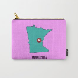 Minnesota State Heart Carry-All Pouch