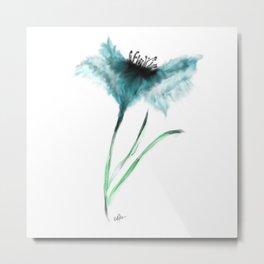 Teal Flower Metal Print