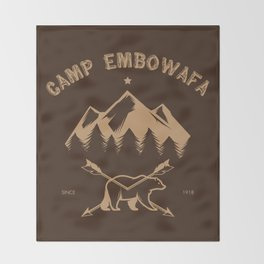 CAMP EMBOWAFA Throw Blanket