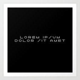 Lorem ipsum dolor sit amet - Lightyear Art Print