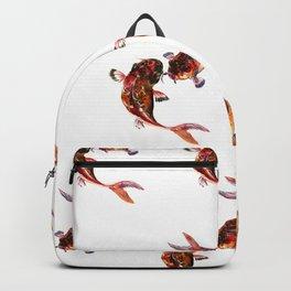 Two Koi, Feng Shui Art Koi Fish, Koi Fish design, Yin Yang Backpack