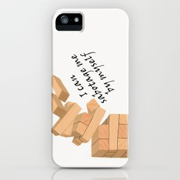 Caught in the Middle Lyrics iPhone Case