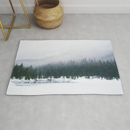 Evergreen Winter Forest (Color) Rug