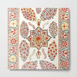 Bokhara Suzani Southwest Uzbekistan Embroidery Print Metal Print