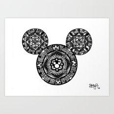 Mickey Mouse Mandala Art Print