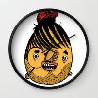 ferrari Wall Clocks featuring Freddie Ferrari by crapAdoodle