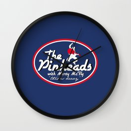 The Pinheads with Marty McFly Wall Clock