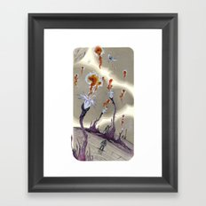 fire from outer space Framed Art Print