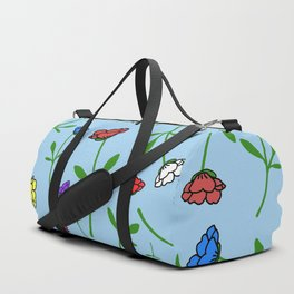 Colorful Flower Toss Duffle Bag