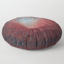 Sunrise in Shangri-La - Abstract Copper Metal Painting Floor Pillow