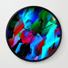 cubism in color Wall Clock