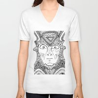 warrior V-neck T-shirts featuring Warrior by Ommou