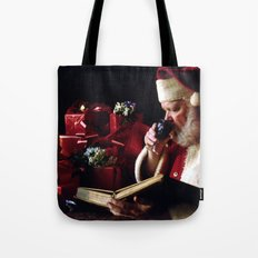 Santa's Book Tote Bag