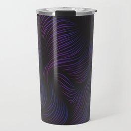 Abstract Hair Flow Travel Mug