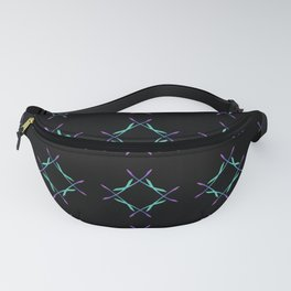 Colorful diamond pattern on sophisticated black  Fanny Pack