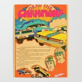Vintage Hot Wheels Snake and Mongoose MOPAR Poster Poster