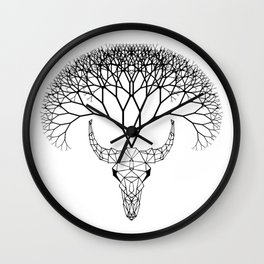 Bull Tree Wall Clock