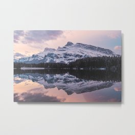Mt Rundle Metal Print