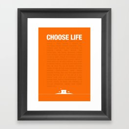 Choose Life Framed Art Print