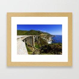 Bixby creek bridge, Big Sur, CA. Framed Art Print