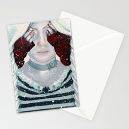 Steampunk Little Red Riding Hood Stationery Cards