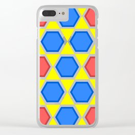 colourful hexagons Clear iPhone Case