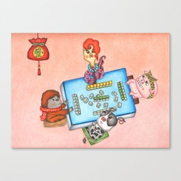 Happy Year of the Rooster Canvas Print