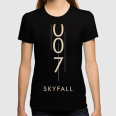 skyfall SMALL Black Womens Fitted Tee