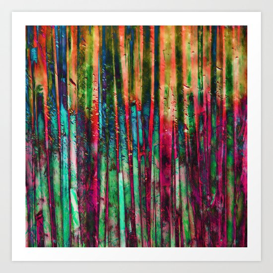 Colored Bamboo Art Print