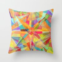 star Throw Pillows featuring Star by Danny Ivan