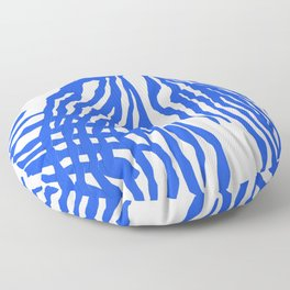 Electric Blue Coral Floor Pillow