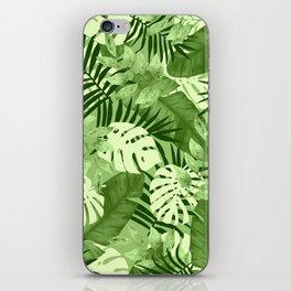 Green Tropical Leaves Pattern iPhone Skin