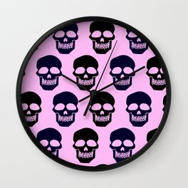 Dark skulls Wall Clock